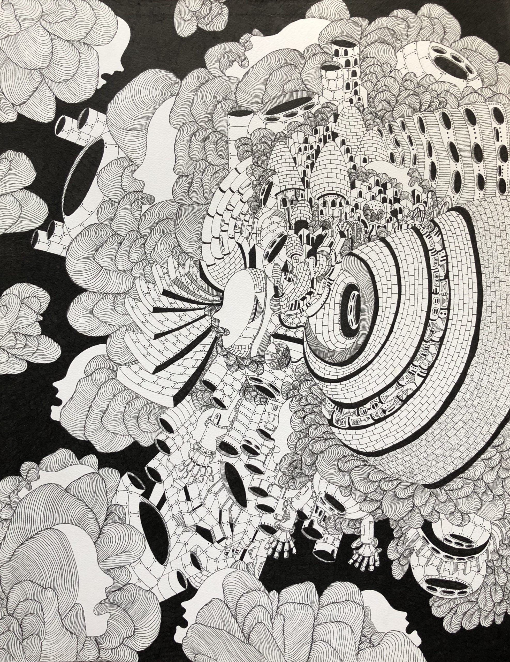 Teruyukj Kurihara_drawing_Destruction and creation